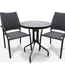 3 Piece Bistro Set - Steel